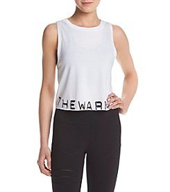 Jessica Simpson - The Warmup Branded Cropped Muscle Tank