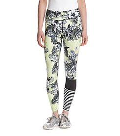 Jessica Simpson The Warmup Floral Print Blocked Leggings