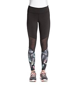 Jessica Simpson - The Warmup Printed Mesh Panel Leggings