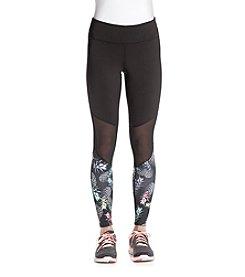 Jessica Simpson - The Warmup Printed Mesh Panel Leggings