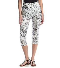 One 5 One® Splatter Printed Capri Leggings