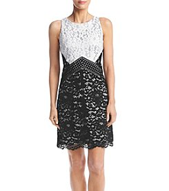 Vince Camuto® Color Blocked Lace Dress