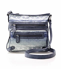Ruff Hewn Triple Zip Denim Crossbody