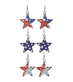 Studio Works® Star Drop Earring Trio