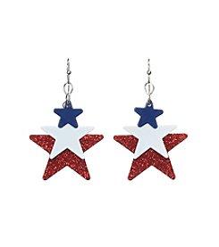 Studio Works® Glitter Accented Multi Star Earrings