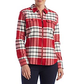 Chaps® Long Sleeve Plaid Top