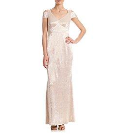 Calvin Klein Cold Shoulder Crepe Dress
