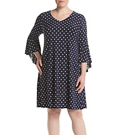 MSK® Plus Size Bell Sleeve Dress