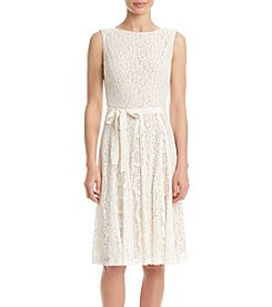 Gabby Skye® Tie Waist Lace Dress