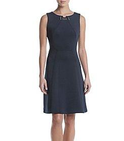 Ivanka Trump® Fit And Flare Scuba Dress