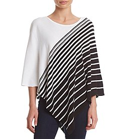 Rafaella® Striped Poncho