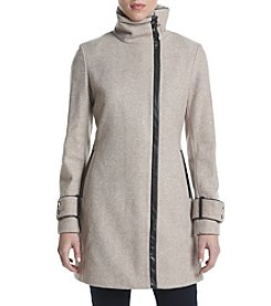 Calvin Klein Asymmetrical Zip Up Coat