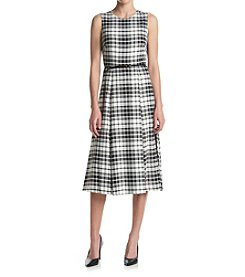 Calvin Klein Plaid Midi Dress