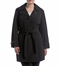 London Fog® Plus Size Double Collar Trench Coat