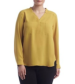 Nine West® Plus Size Two Pocket Blouse
