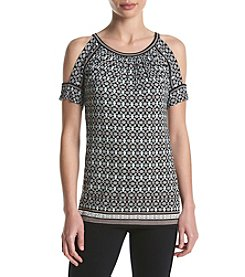 Max Studio Edit™ Cold Shoulder Print Top