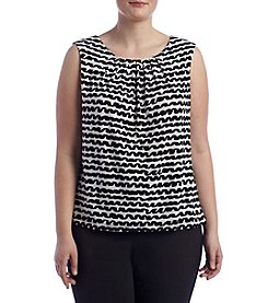 Calvin Klein Plus Size Pleatneck Cami
