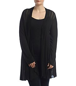 Chelsea & Theodore® Plus Size Open Cardigan