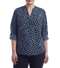 MICHAEL Michael Kors® Plus Size Zip Pocket Blouse