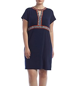 MICHAEL Michael Kors® Plus Size Border Print Dress