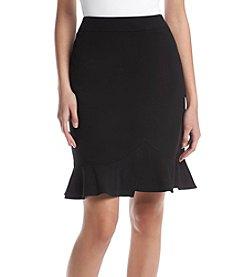 Tahari ASL® Ruffled Hem Skirt