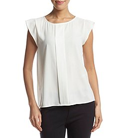 Tahari ASL® Pleated Front Blouse