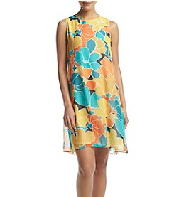 Nine West® Printed Trapeze Dress