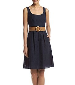 Nine West® Belted Textured Dress