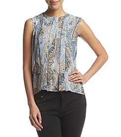Tommy Hilfiger® Pleated Paisley Blouse