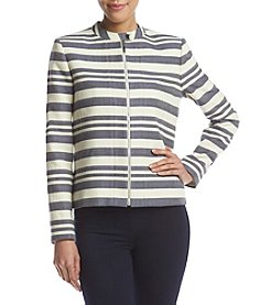 Tommy Hilfiger® Striped Zip Front Jacket