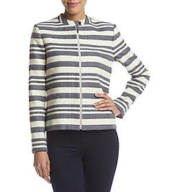Tommy Hilfiger® Striped Zip Front Jacket