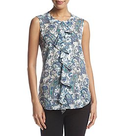 Tommy Hilfiger® Paisley Ruffled Blouse