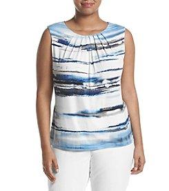 Calvin Klein Plus Size Pleated Printed Cami