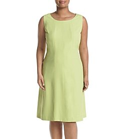 Kasper® Plus Size Crepe Fit & Flare Dress