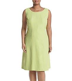 Kasper® Plus Size Crepe Fit & Flare Dress