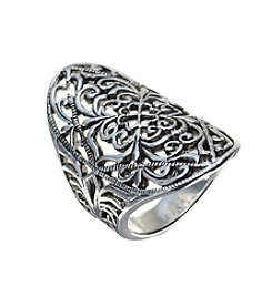 Marsala® Oval Filigree Ring