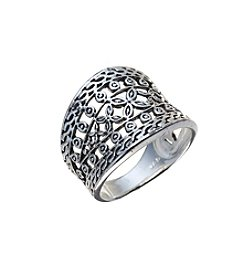 Marsala Openwork Cigar Band Ring