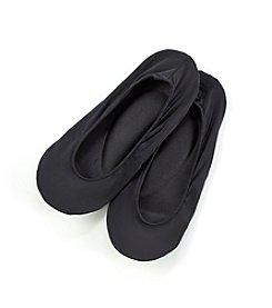 HUE® Black Cushioned Sole Liner Socks