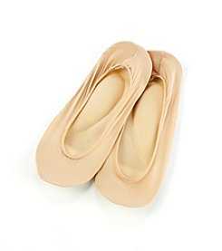 HUE® Cream Classic Cushioned Sole Liner Socks