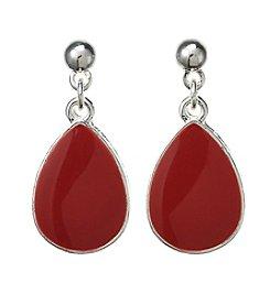 Studio Works® Silvertone Teardrop Drop Earrings
