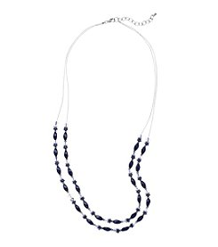 Studio Works® Two Row Beaded Illusion Necklace