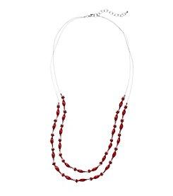 Studio Works® Two Row Beaded Illuision Necklace