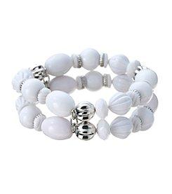 Studio Works® Two Row Beaded Stretch Bracelet