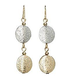 Studio Works® Textured Double Drop Earrings