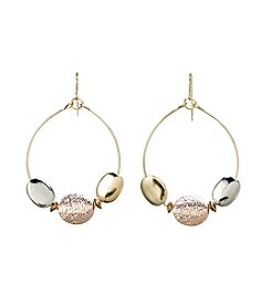 Studio Works® Beaded Hoop Drop Earrings
