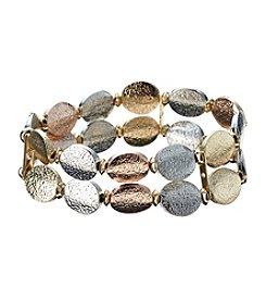 Studio Works® Metallic Two Row Stretch Bracelet