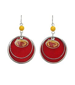 Studio Works® NCAA® Iowa State Cyclones Layered Drop Earrings