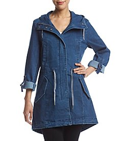 Andrew Marc® Denim Look Anorak Coat