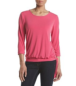 Studio Works® Petites' Banded Bottom Side Tie Top