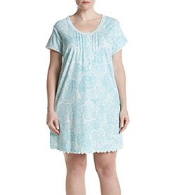 Miss Elaine Plus Size Paisley Nightgown